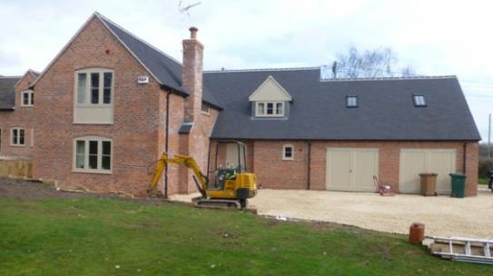 Large extensions to country cottage